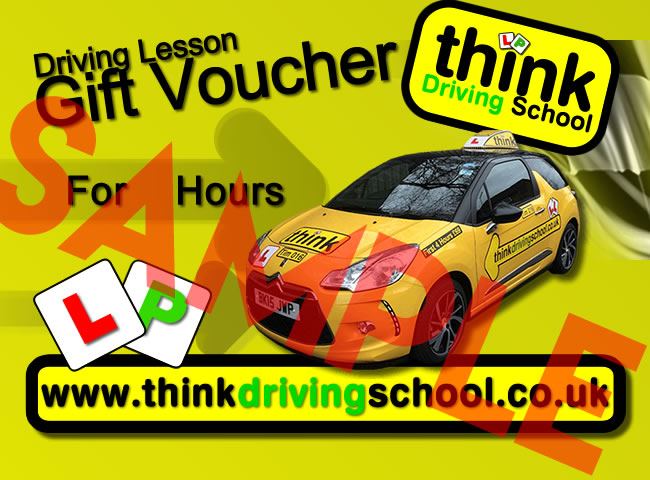 Driving lesson gift vouchers hampshire surrey berkshire and london gift vouchers are available in any amount from 1 hour to 4 hours yadclub Image collections