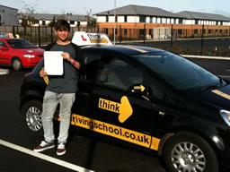 billy aldershot  happy with think driving school