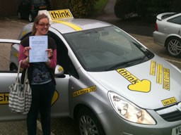 georgina haslemere  happy with think driving school
