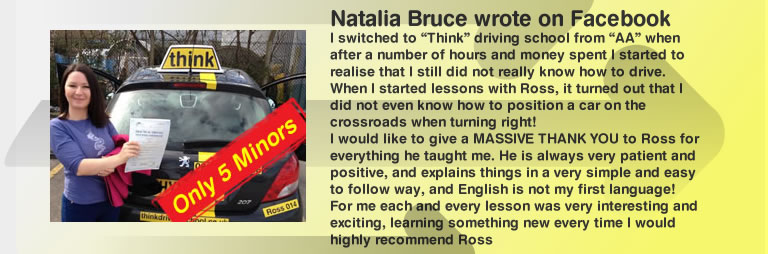 natalia left a 5 star review of think driving school