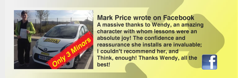 mark left this awesome review of wendy maclaren from think drivng school