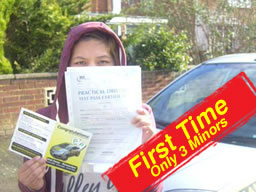 sam passed after drivng lessons in camberley with martin hurley
