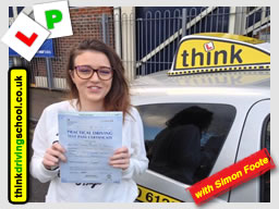 Passed with think driving school in January 2017 and left this review