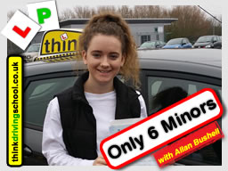 Passed with think driving school in January 2017