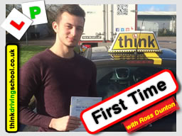 Passed with think driving school in February 2017