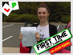 Matt Hillary left this awesome review after she passed after drivng lessons in farnborough with Jay Highley