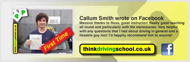 callum smith left this awesome review of think driving school's ross dunton adi