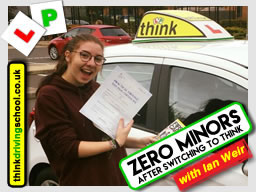 Stuart very happy learner who passed with think driving school