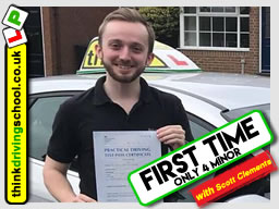 Passed with think driving school in April 2018 and left this 5 star review