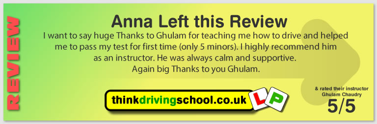 Suerly Sammarco passed with Ghulam at hink driving school and left this awesome review
