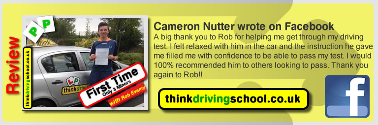 Passed with think driving school in August 2015