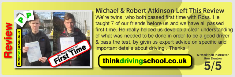 Michael and Robert Atkinson passed with ross dunton from guildford driving school after doing an intensive driving course