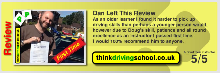 Karen Day left this awesome review of Douglas Edwards at think driving school