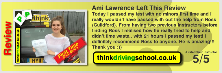 Kelly passed with ross dunton from guildford driving school
