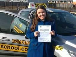 Rachel bordon happy with think driving school