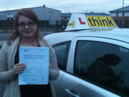 rosie camberley  happy with think driving school