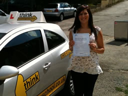 hannah bordon happy with think driving school