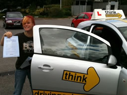 leanne bordon happy with think driving school