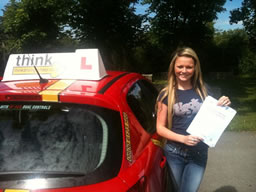 cassie bordon happy with think driving school