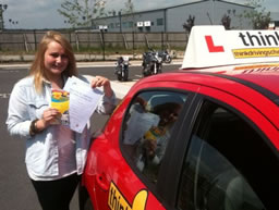 holly bordon happy with think driving school