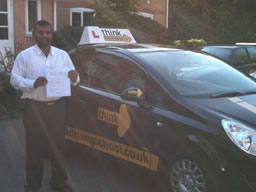 jay aldershot  happy with think driving school