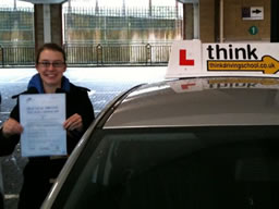 jess aldershot  happy with think driving school