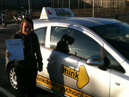 lauren  happy with think driving school