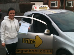 hollie mychett  happy with think driving school