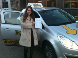tabby petersfield  happy with think driving school
