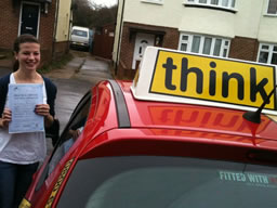 emily farnham happy with think driving school