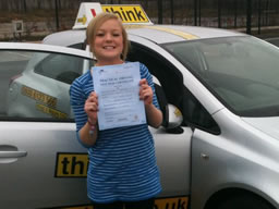 emma alton  happy with think driving school