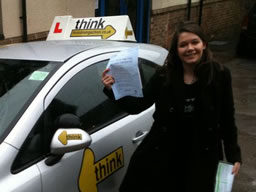 racheal bordon  happy with think driving school