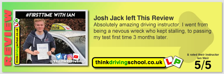 Passed with think driving school in December 2018 and left this 5 star review