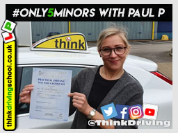 Passed with think driving school in March 2020 and left this 5 star review