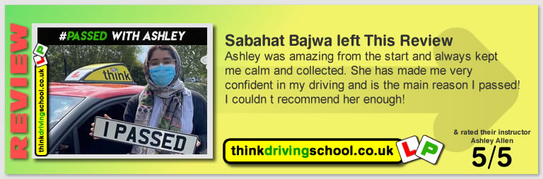 Passed with think driving school During Covid-19 2020 and left this 5 star review