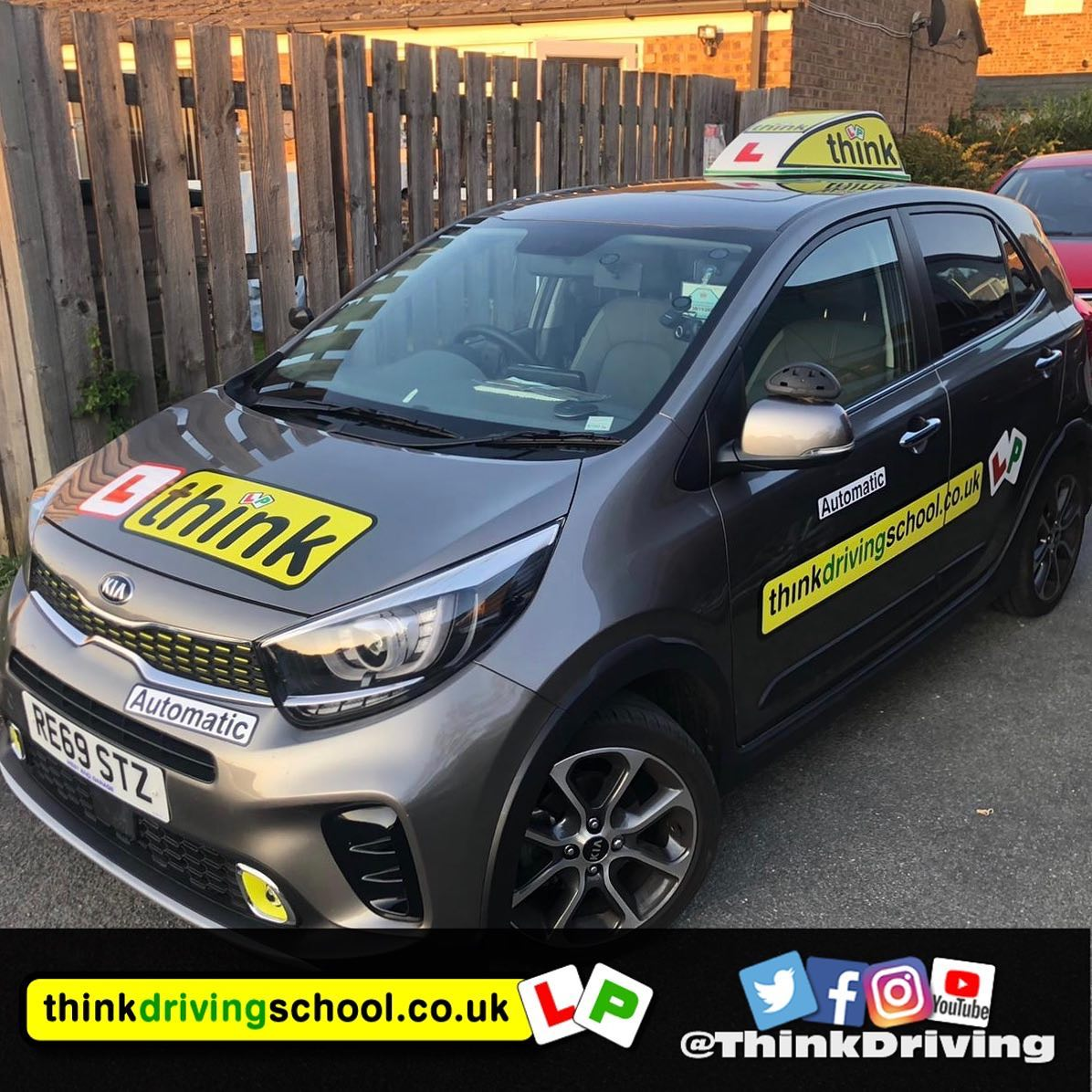 driving lessons Bracknell Stephen Towell think driving school Toyota Yaris