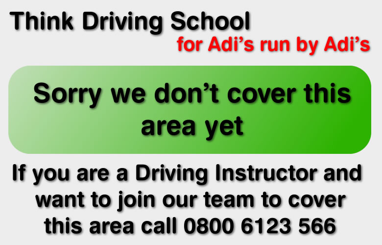 sorry we dont cover this are think driving school for drivign lessons and driving instructors