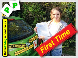 tahsa from bordon  passed with drivnig instructor from alton ian weir ADI