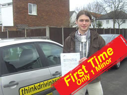 lukasz passed first time at farnborough drivng test centre after lessons with martin hurley