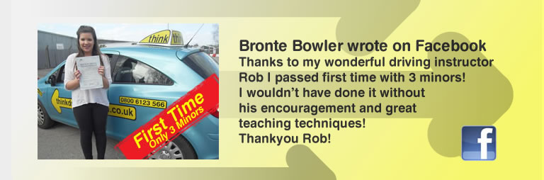 Bronte Bowler from Chiddingfold passed with think driving school and left a great review