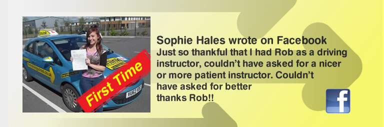 steph hales from liphook passed First time with rob evamy and left this awesome review of think drivingschool