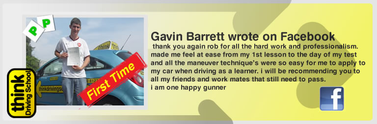 gavin barrett left this awesome review of think drivng school