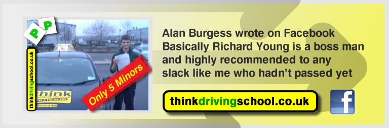 alan burgess passed with richard young from bordon driving school