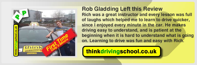 Rob Gladding passed with richard young from Farnham driving school