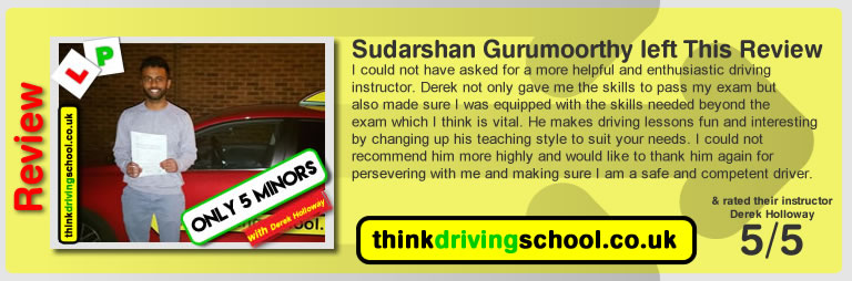 Derek Holloway Adi driving instructor Giving driving lessons in Bracknell