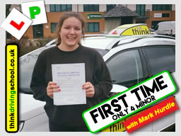 Rose Passed with driving instructor MArk Hurdle from Alton