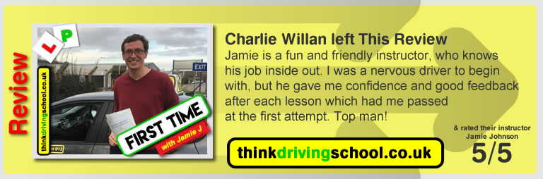 Passed with think driving school in Jauary 2018 and left this review