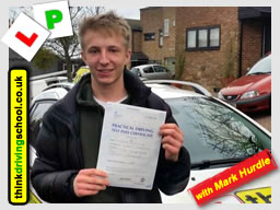 Passed with driving instructor Mark Hurdle from Four MArks