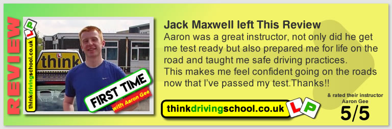 Great Review of  Aaron Gee driving lessons Kirkintilloch think driving school