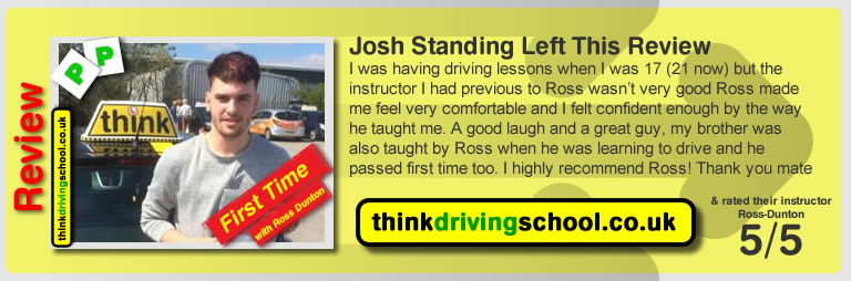 Jonny passed with ross dunton from guildford driving school after doing an intensive driving course